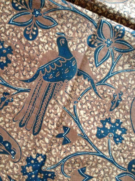 Batik Tulis Solo Style Javanese Indonesian by BlueGingerVintage, 199.00