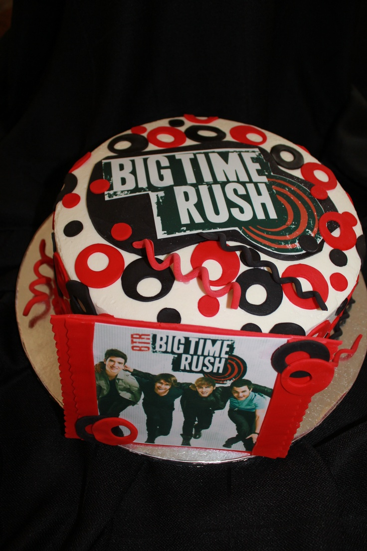 Big Time Rush! This cake was created for a clients niece who loves the boys on Big Time Rush.