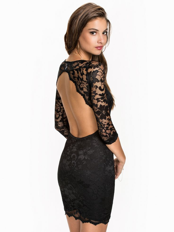 robe de soir e nelly com achat lace keyhole back dress nly one noir prix promo nelly com. Black Bedroom Furniture Sets. Home Design Ideas