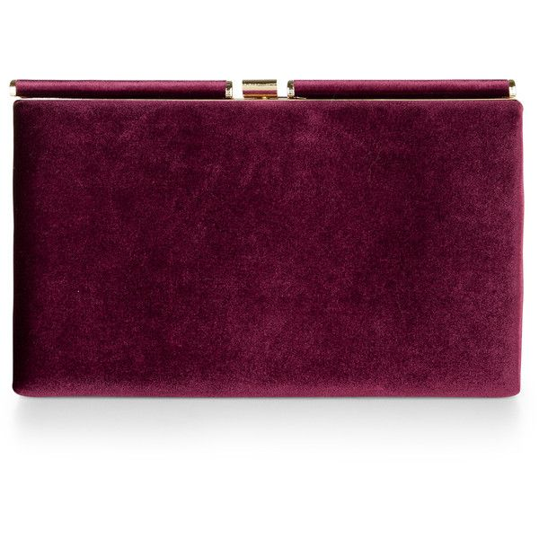 Monsoon Archer Velvet Clutch Bag found on Polyvore featuring bags, handbags, clutches, purple purse, velvet purse, velvet handbag, clasp purse and purple handbags