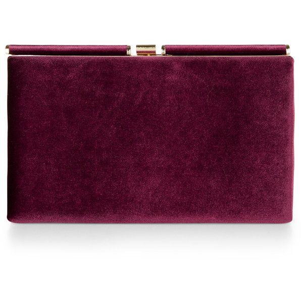 Monsoon Archer Velvet Clutch Bag found on Polyvore featuring bags, handbags, clutches, purple purse, velvet purse, velvet handbag, clasp purse and purple handbags