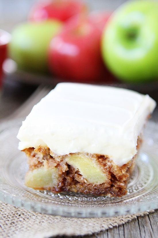 Apple Cake with Cream Cheese Frosting Recipe on twopeasandtheirpod.com Love this…