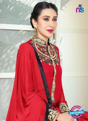 Elezita 73011 Red Party Wear Faux Georgette Desiger Suit