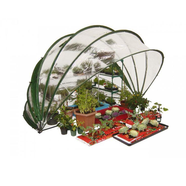 Utfällbart växthus med stor odlingsyta | Wexthuset #Väggväxthus #HortiHood180