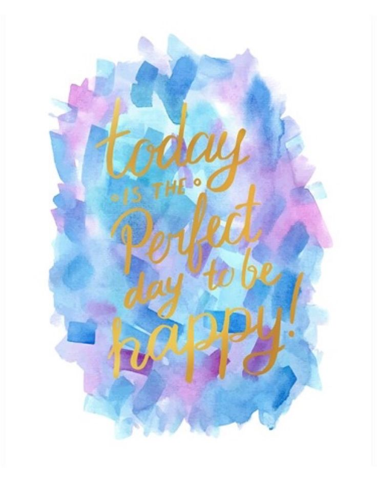 Today is the Perfect Day to be Happy Canvas