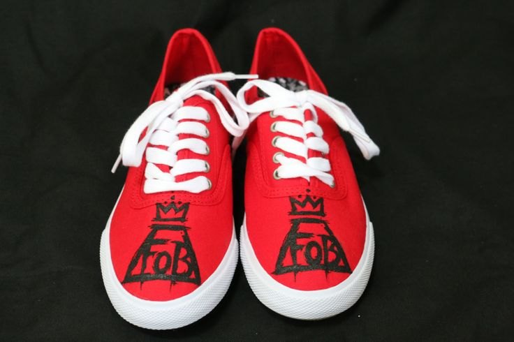 Fall Out Boy Save Rock and Roll Hand Painted Shoes by FolieaShoe, $40.00
