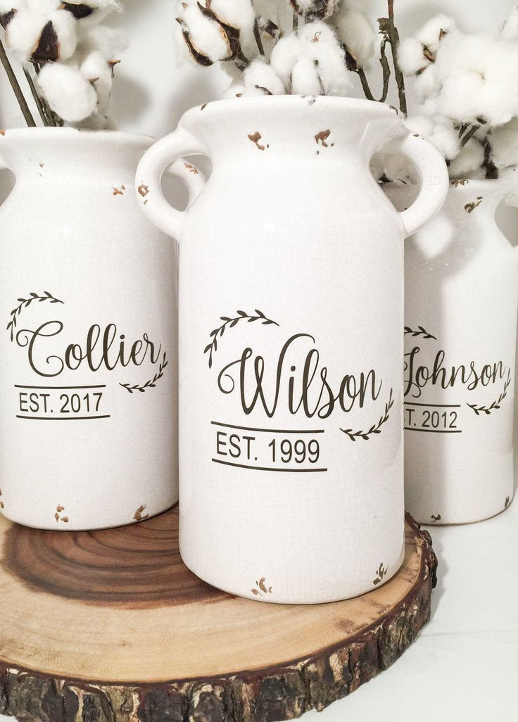 Milk Can Table Centerpieces, Farmhouse and Rustic Decor