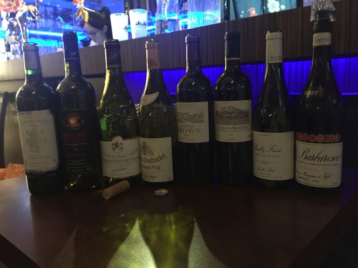 Happy dinner and fine wines