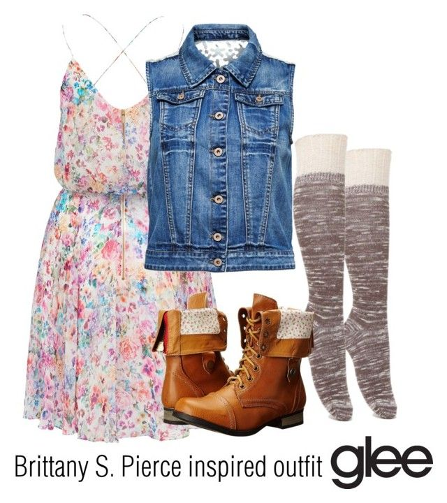 """""""Brittany S. Pierce inspired outfit/Glee"""" by tvdsarahmichele ❤ liked on Polyvore featuring Forever New, ONLY, With Love From CA, Charles Albert, women's clothing, women, female, woman, misses and juniors"""