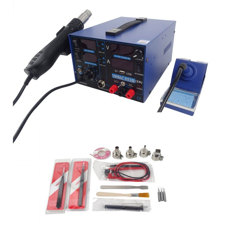 Free DHL YIHUA 853D 2A soldering station hot air gun Welding Machine + soldering iron + power + free gift //Price: $US $103.08 & Up to 18% Cashback on Orders. //     #gifts