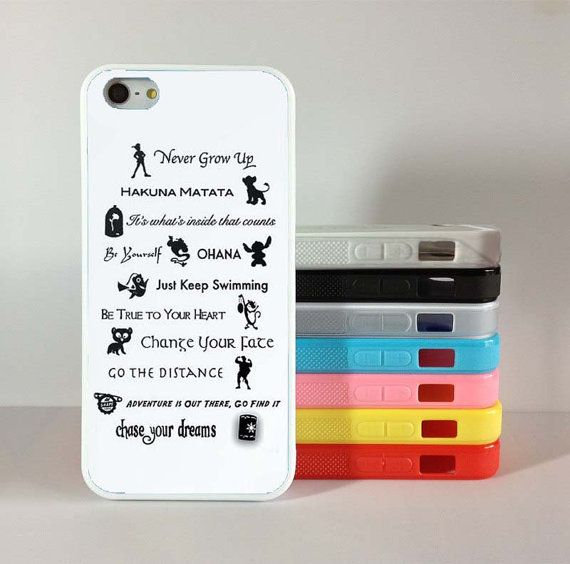 Disney quotesiPhone 5 Case iphone 4 case  iPhone 5 by newstyle2014, $6.98