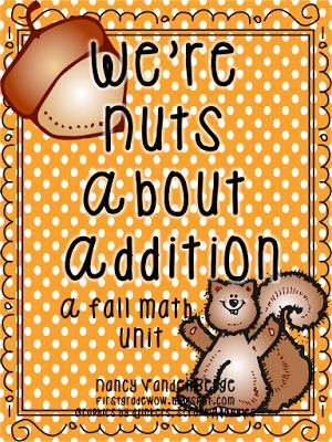 We're Nuts About Addition:  Math Tub Activities with a Fall Theme - Freebie from First Grade Wow
