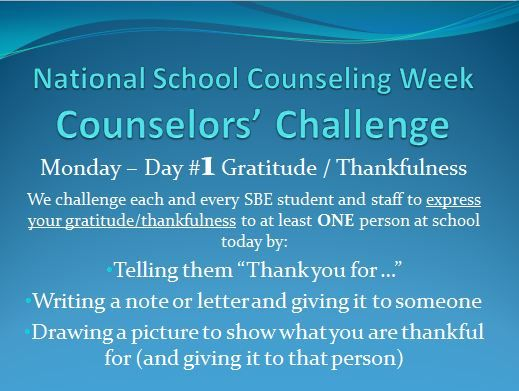 national school counselor week ideas for radloff Friday will be Goal challenge instead- Name 5 goals for yourself for the next 5 years