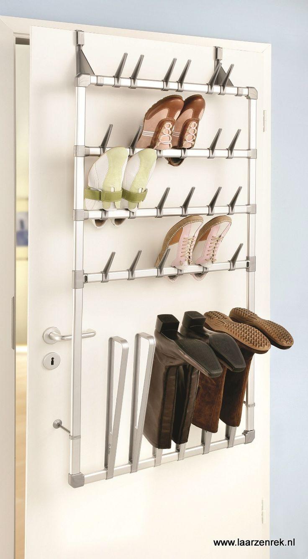 Ruco schoenenrek en laarzenrek voor wand en deur montage