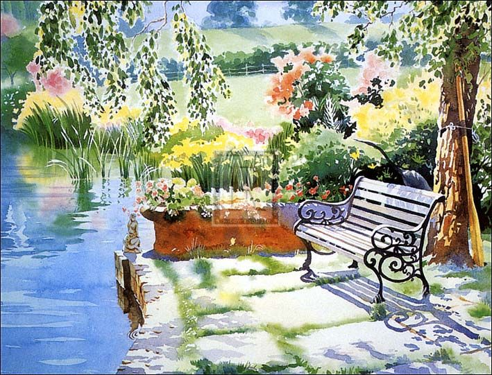 285 Best Watercolor Garden Images On Pinterest Water