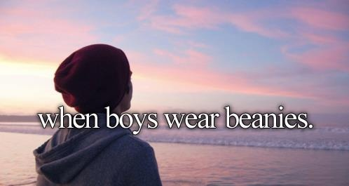 <3<3<3<3<3<3<3<3<3<3<3 I will take a guy wearing a beanie over a snapback any day!!!!
