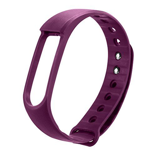 nice PADGENE® ID01 Stylish Interchangeable Wristband Band / Strap With Secure Adjustable Buckle Fastener for PADGENE ID01 Bracelet Fitness Wristband (Purple)