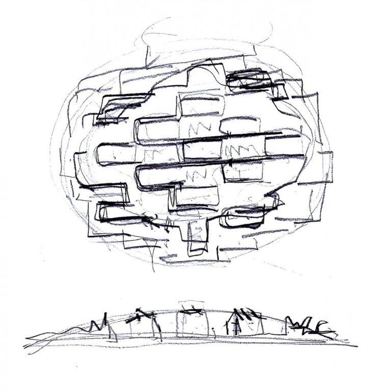 idea concepto de una escuela de arte y arquitectura