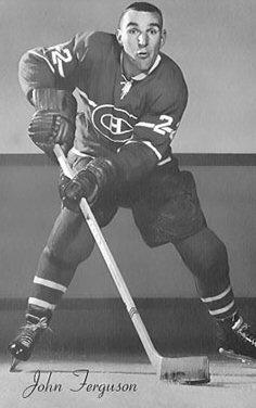 John Ferguson : Il ne serait désormais plus question pour les adversaires du Tricolore d'abuser de ses vedettes. John Bowie Ferguson est rapidement devenu l'homme le plus craint de la ligue, conservant le titre jusqu'à sa retraite, huit ans plus tard. « Fergy » n'avait qu'un but sur la patinoire, aider les Canadiens de Montréal à remporter la victoire.
