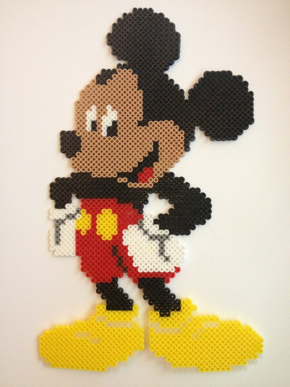 Mickey Mouse perler bead by PerlerPalace