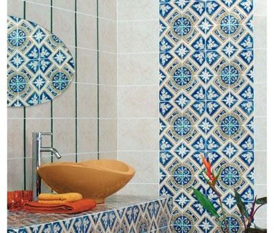 here is a bathroom designed with tiles