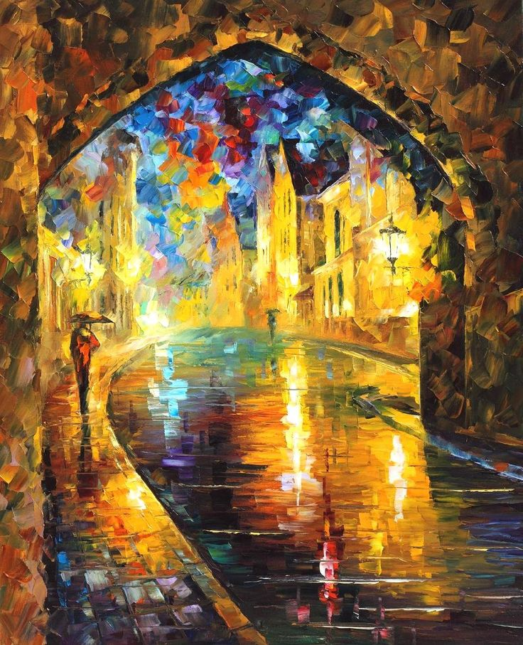 """""""Old town 2"""" by Leonid Afremov ___________________________ Click on the image to…"""