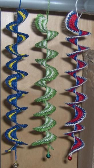 Crochet spiral with/without beads for windows or earrings | YouCanMakeThis.com PDF $4.90