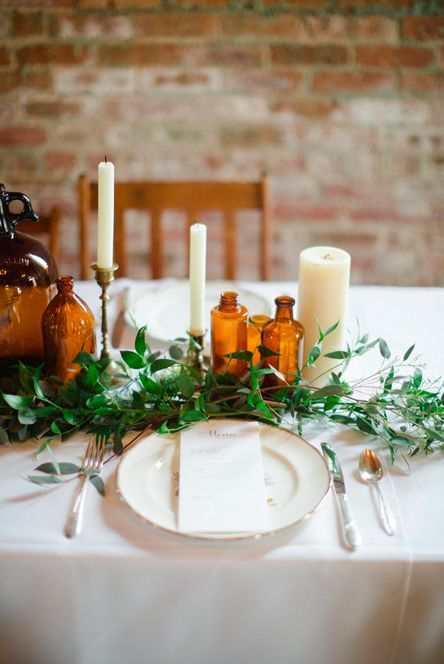 table setting http://www.danistephensonphotography.blogspot.com/2014/02/rustic-and-romantic-inspiration-shoot.html