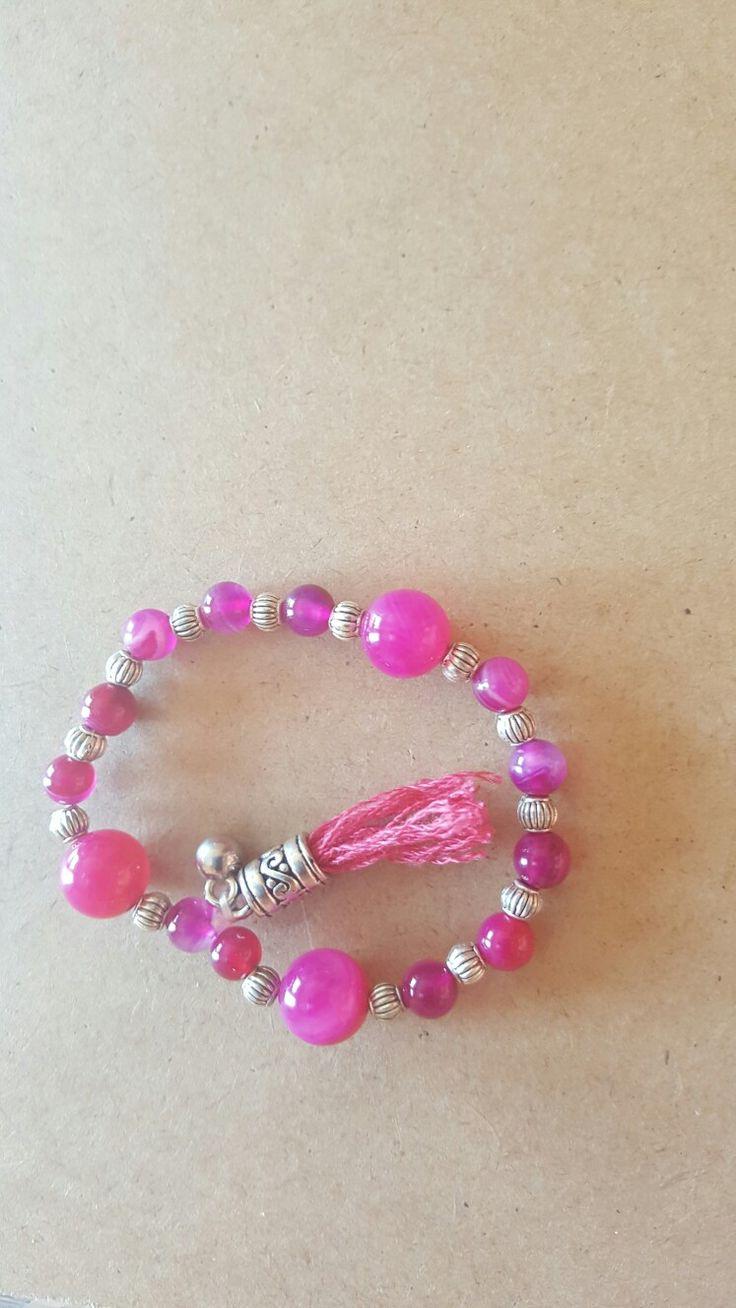 Pedras naturais em rosa