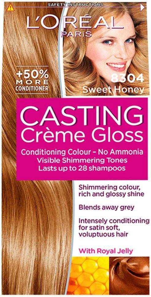 L Oreal Paris Casting Creme Gloss 830 Sweet Honey What You Get 1 X Dye Kit Casting Creme Gloss A No Ammonia C Loreal Paris Loreal Golden Blonde Hair Color
