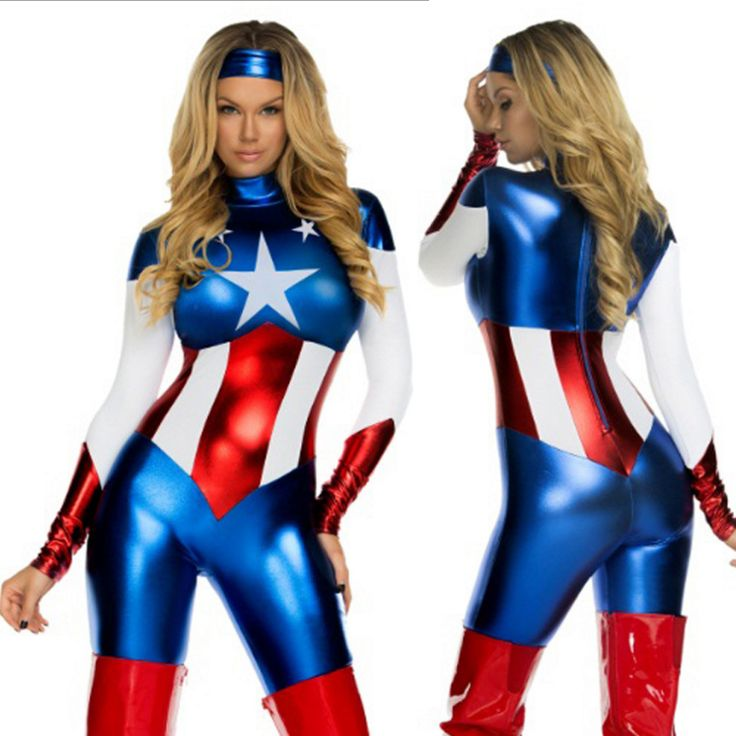 >> Click to Buy << Sexy Captain America Costume Women Halloween Carnival Cosplay Costume Jumpsuit Movie Avengers Lego Adult Captain America Costume #Affiliate