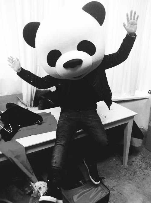 //Everyday Life, Favorite Things, Crazy Head, Adult Costumes, Pandas Hombre, Adult Animal, Weird Pandas, Pandas Mascot, Pandas Costumes