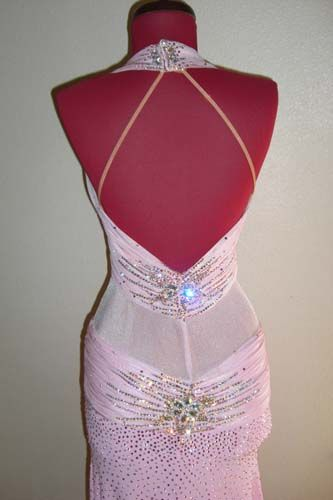 Pink Chrisanne Latin / Rhythm Dress For Sale, Dance Costumes For Sale, Dance Gowns for sale