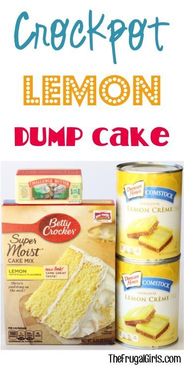 Crockpot Lemon Dump Cake Recipe! ~ at https://TheFrugalGirls.com ~ this easy dessert is SO delicious... just dump it in the Slow Cooker and walk away!! #slowcooker #recipes #thefrugalgirls