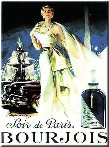 French Advertising Sign - Soir Evening in Paris Perfume