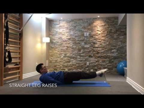 Straight Leg Raises for Core and Hip Flexor Strength