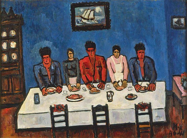 Marsden Hartley (1877-1943) - Fishermen's Last Supper, Nova Scotia, 1940-41