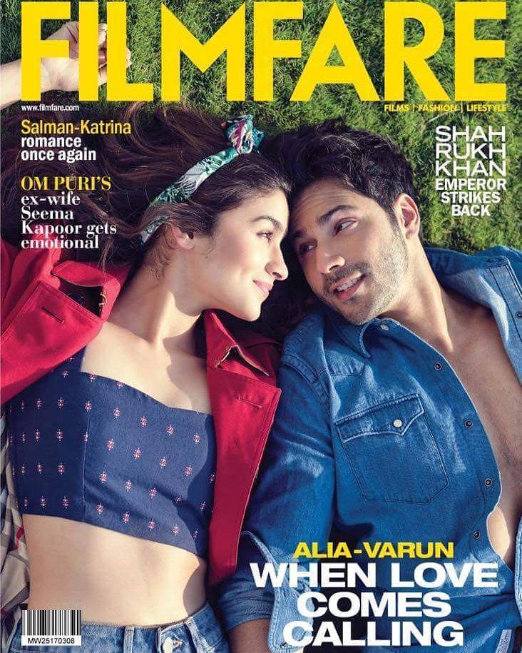 It's all love when it comes to Varun Dhawan and Alia Bhatt on the cover of Filmfare. March'17 Issue.  #VarunDhawan #AliaBhatt #BadrinathKiDulhania #magazinecover #bollywoodmagazines #celebritymagazine #magazine #magazineshoot #covershoot #celebrity #photoshoot #bollywood #actress #bollywoodactress #covergirl #glamour #glamourous #star #beauty #hot #sexy #instalike #instacomment #filmywave