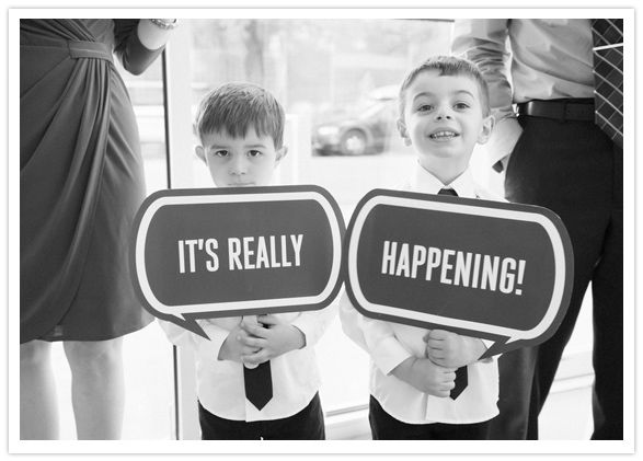 Super cute ceremony signs