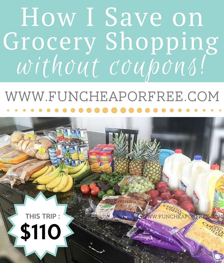 How to save a BUNDLE on your grocery shopping, without the hassle of couponing! See how I do it - www.FunCheapOrFree.com