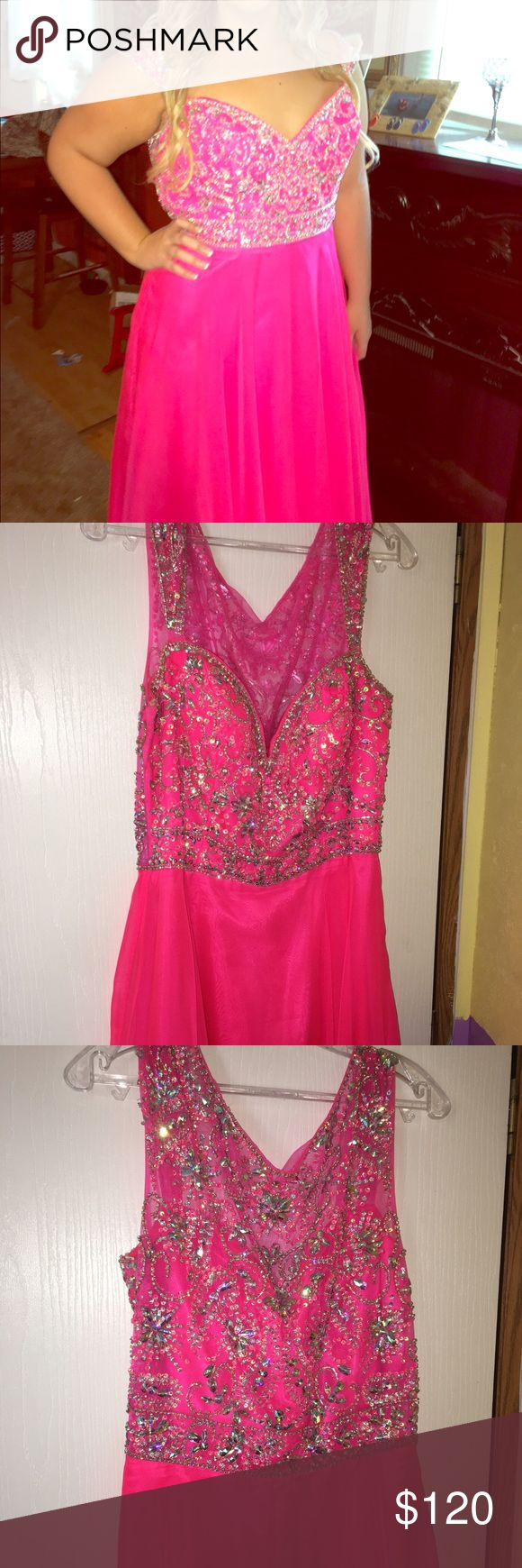 Pink Prom Dress 💖 Neon pink prom dress, fits more like a 14/16, in good condition, only wore once Panoply Dresses Prom
