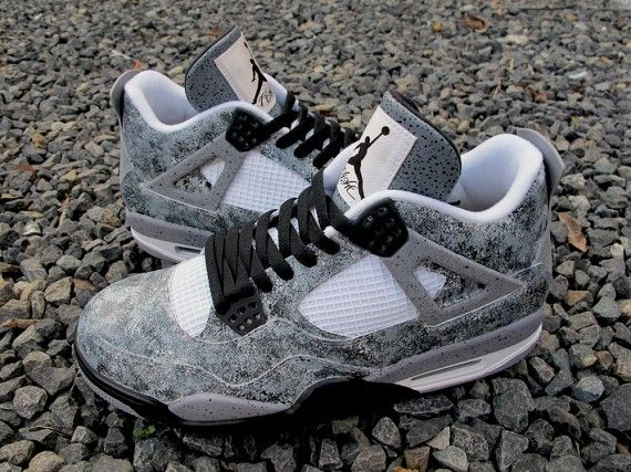 "Air Jordan 4 ""Asphalt"" Customs by Sekure D"