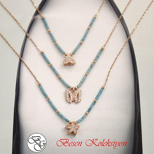 Besen Koleksiyon - Rose Üç Yaprak Kelebek ve Yıldız Figürlü Firuze Taşlı Kolyeler  Besen Gümüş - Besen Koleksiyon www.besengumus.com  #besen #gümüş #takı #aksesuar #besen #koleksiyon #rose #üç #yaprak #kelebek #yıldız #figürlü #firuze #taşlı #kolye #kolyeler #izmit #kocaeli #istanbul #besengumus #tasarım #moda #bayan  Sorularınız İçin Whatsapp 0 544 6418977 Mağaza 0 262 3310170