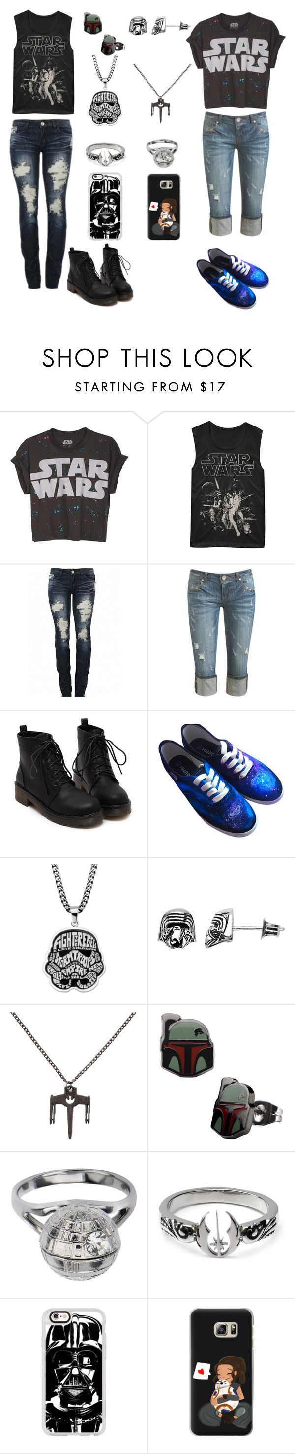 """May the 4th be with you (yes i went all out star-wars today)"" by awesomeandsuperanna ❤️ liked on Polyvore featuring Fifth Sun, DK, Wet Seal, Chicnova Fashion and Casetify"