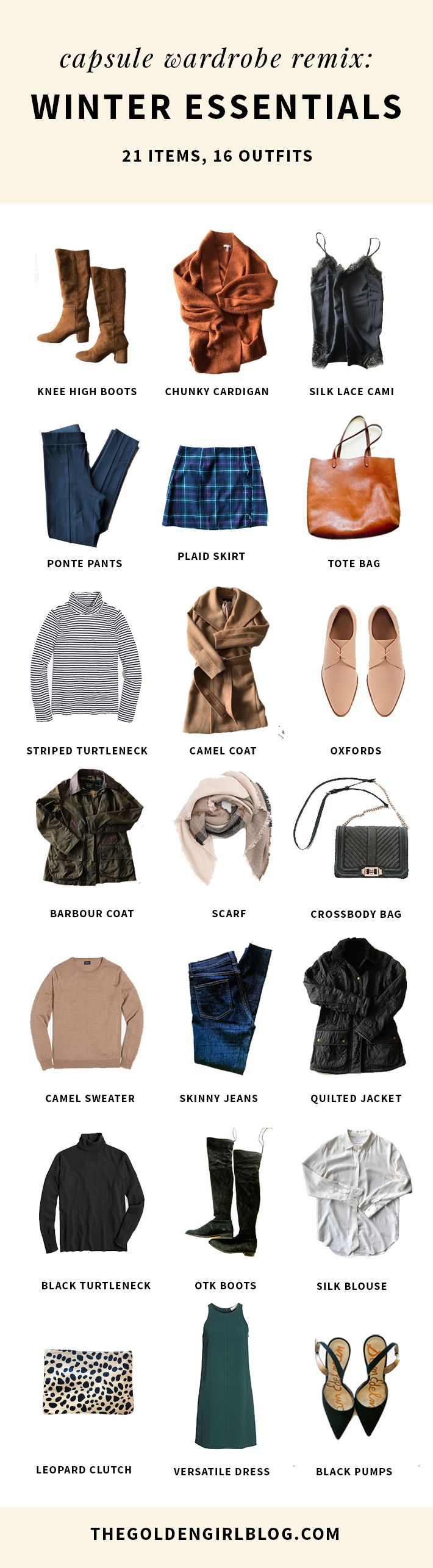 Capsule Wardrobe Remix: Winter Capsule Wardrobe–21 Items, 16 Outfits!