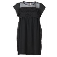 30% OFF! With its loose fit, layered detailing, sheer neckline, small sleeves and comfortable lining, this dress is an easy wear day or night. Perfect for those always on the go!