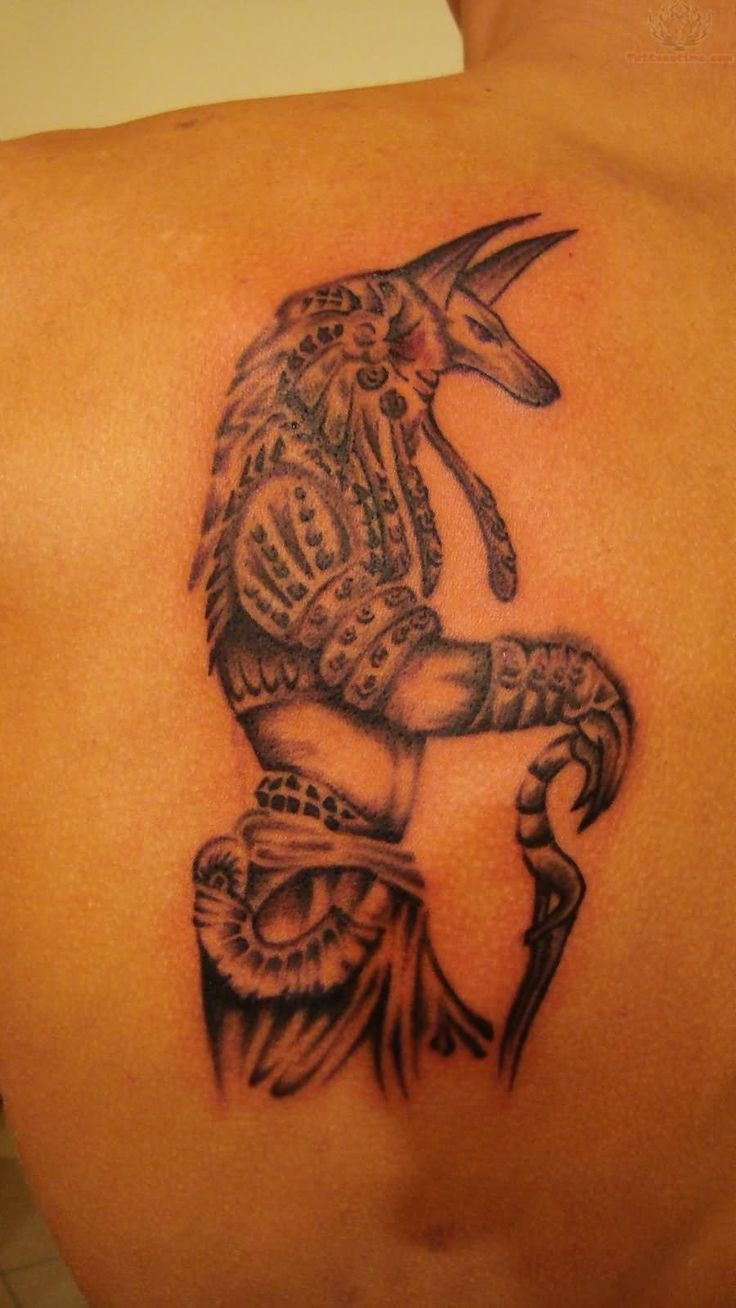 New tribal sagittarius tattoo for girls and women tattoobite com - Back Shoulder Anubis Tattoo For Men