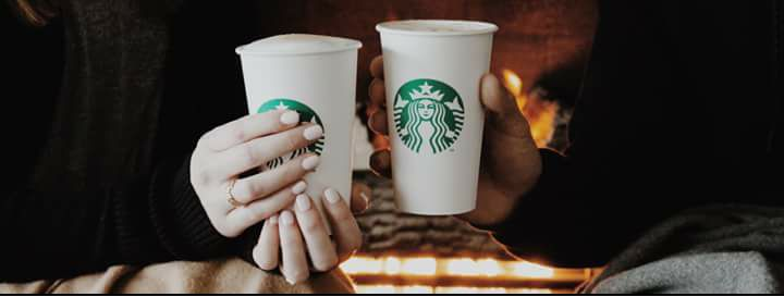 Stay warm and cosy with a Starbucks coffee