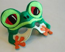 Silus the Red Eyed Tree Frog Mask for Pretend Play Rainforest Creature