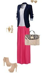Smart maxi outfit